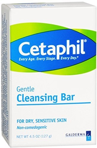Gentle Cleansing Bar (Cetaphil Gentle Cleansing Bar for Dry/Sensitive Skin 4.50 oz (Pack of 12))