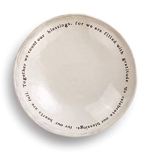 Blessings Celebrate Cream 10 x 10 Ceramic Stoneware Decorative Dishware Bowl ()