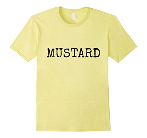Group Themed Funny Halloween Costumes (Mens MUSTARD Halloween Group Costume T-Shirt Funny 3XL)
