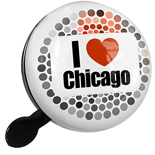 Bell Illinois (NEONBLOND Bike Bell I Love Chicago Region: Illinois, United States Scooter or Bicycle Horn)