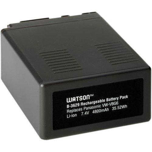 Watson VW-VBG6 Lithium-Ion Battery Pack (7.4V, 4800mAh) -Replacement for Panasonic VW-VBG6 Battery Panasonic AG-AC130 , AG-AC160 , AG-AF100 , AG-AF100A , AG-HMC70 , AG-HMC150