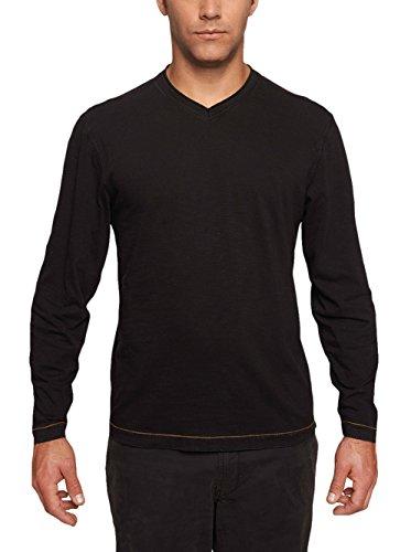 TADD Mens Chip Long Sleeve Jersey V-Neck Tshirt Black XX-Large