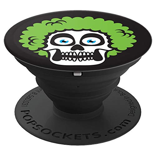 Halloween Shirt Funny Skeleton Face PopSockets Grip and