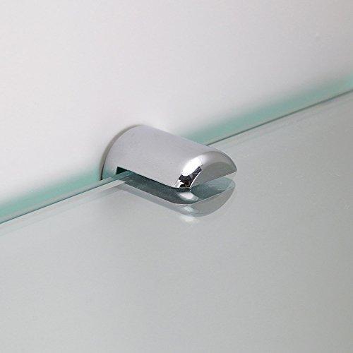 Duschkabinen Klarglas Regal Ablage Sicherheitsglas 8 mm Glas-Wandregal Glasregal Eckregal f/ür Duschw/ände