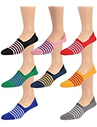 All Eight Colors World's Finest Selection: Cotton No-Show Striped Loafer Socks