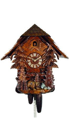'isdd Cuckoo Clock – Uhr CUCÚ, Motiv Haus Wald, Bär