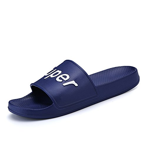 Gray Durable 7 5MUS Sandals Women Beach Slipper blue amp;Baby Men's Indoor PVC Dark and Sunny Size Color AOzPBwTqB