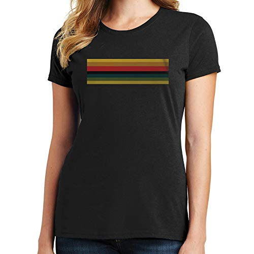 Bluejack Clothing Doctor Who Womens T-Shirt Jodie Whittaker 13th Doctor Who Stripes 2222