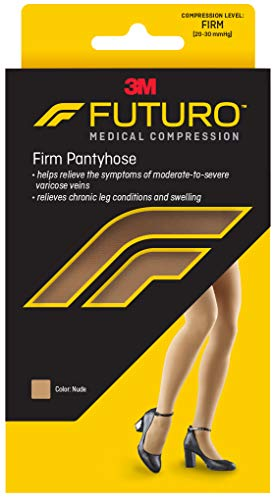 Futuro Restoring Pantyhose for Women, Firm Compression, Brief Cut, Plus Size, - Pantyhose Firm