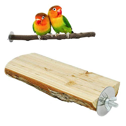 - bird perches Parrot Cage Perch, Wooden Platform for Parrot ,Natural Hardwood Branches for Parrot Cages