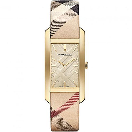Burberry Champagne Dial Haymarket Check Fabric Ladies Watch BU9407