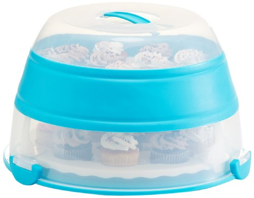 Prepworks by Progressive Collapsible Cupcake and Cake Carrier - Teal