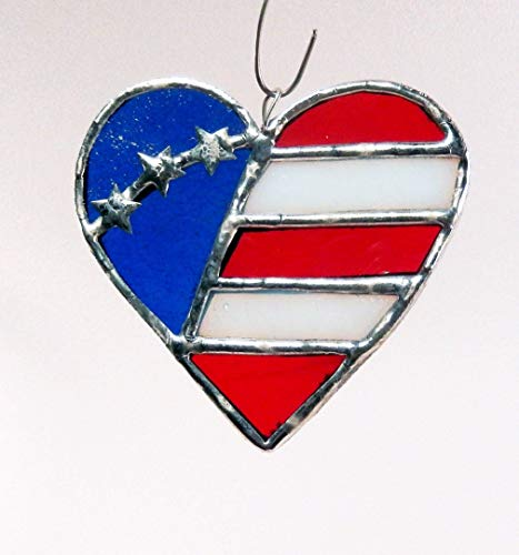 Stars, Stripes. Red, White and Blue American Heart Flag