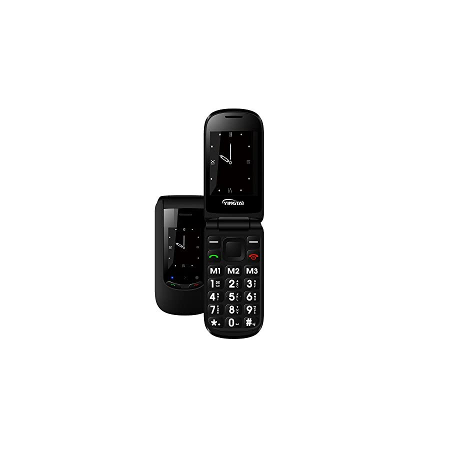 YINGTAI T10W 3G Senior Phone Dual Sim Flip Cell Phone Elderly Easy to Use SOS Button Mobile Phone