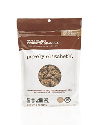 purely elizabeth Probiotic Gluten Free Granola, Maple Walnut, 3 Count Maple Walnut