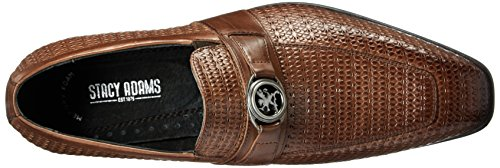 Stacy Adams Men's Mannix-Moc Toe Bit Slip-On Loafer Cognac outlet pay with paypal yFA0dQp