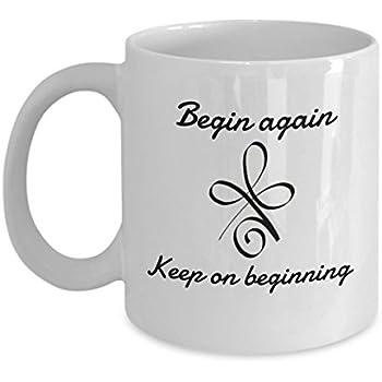 Amazoncom Begin Again Celtic Symbol For New Beginnings Coffee Or