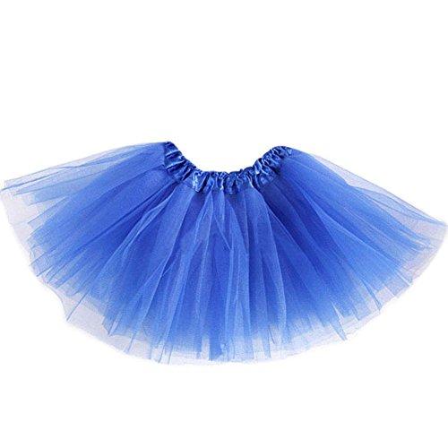 Tutu de danse MIOIM? pour filles - Mini-jupe - Jupon - Tailles varies pour adultes et enfants Blau2
