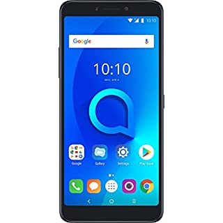 "Alcatel 3V Unlocked Smartphone (AT&T/T-Mobile) - 6"" 18:9 HD Display, 12MP Rear Dual Camera, Android 8.0 Oreo - Spectrum Black (U.S. Warranty)"
