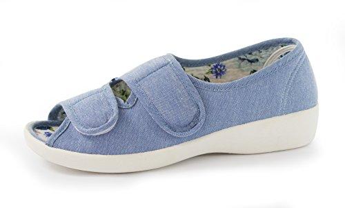 Bleu Comfort Sandales Living Pour Femme IT84Twq
