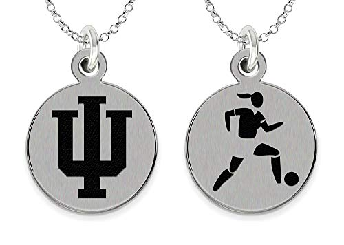 College Jewelry Indiana University Hoosiers Women's Soccer Charm Necklace by College Jewelry