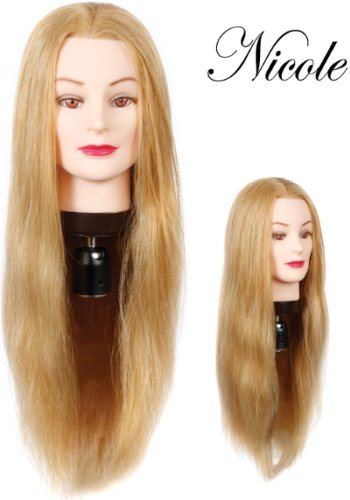 "HairArt 24"" Cosmetology Mannequin Head Human Hair, Blonde Hair by Hairart"