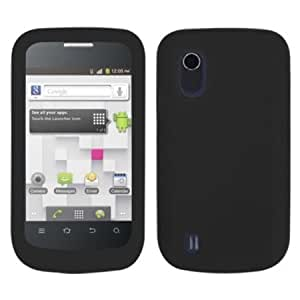 Quaroth Solid Black Silicone Skin Gel Cover Case For ZTE Concord V768