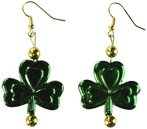 Amscan Fun Filled St. Patrick's Day Party Shamrock Dangling Earrings, Green, 2