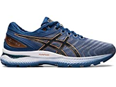 Experience the lasting comfort with GEL-NIMBUS 22 running shoe from ASICS. Packed with technologies to improve the performance of neutral runners, the newest iteration of this iconic running shoe delivers soft cushioning and a responsive stri...