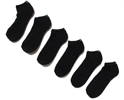 Calvin Klein Men's All Purpose No Show Socks 6 Pack One Size Black