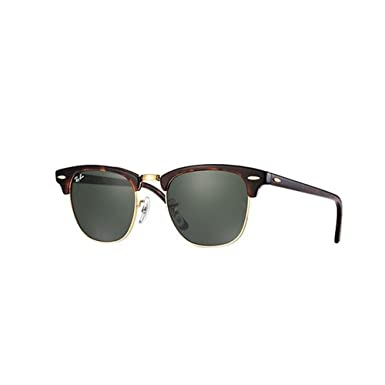 do ray ban sunglasses have glass lenses  ray ban clubmaster mock tortoise/ arista frame crystal green lenses 49mm non