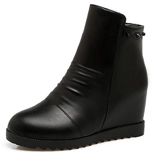 Zipper RAZAMAZA Women Boots Black RAZAMAZA Women 8H0w77