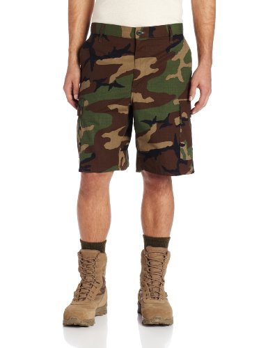 Ripstop Army Cargo Bdu Shorts - Propper Men's BDU Short, Woodland, X-Large