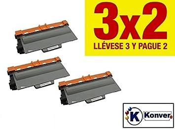 Pack AHORRO 2X Toner reciclado Brother TN3380 compatible para impresoras Brother HL-5440D/5450DN/5450DNT/5470DW,HL-6180DW/6180DWT;Brother ...