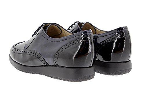 gris Pelle condoncino Comfort PieSanto Comfort Negro Speciale Larghezza con Scarpe Scarpe Donna 9630 marino B6T74q