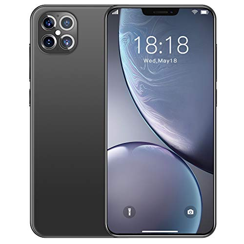 Mobile Phone,Smartphone Quad Rear Camera Dual Sim Free Android Phones with 4680mah Big Battery, 6.6 Inches Waterdrop Full-Screen, 64gb, Fingerprint, Face Id Cell Phone,Grey-EU