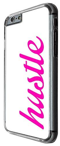 1419 - Cool Fun Trendy cute quote hustle street (2) Design iphone 6 Plus / iphone 6 Plus S 5.5'' Coque Fashion Trend Case Coque Protection Cover plastique et métal - Clear
