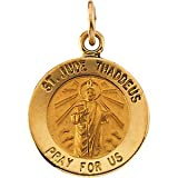 12.00 Mm 14K Yellow Gold St. Jude Thaddeus Medal