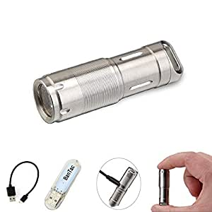 Minilinterna portátil de LED MecArmy X2S, recargable por USB, para llevar en el llavero, resistente al agua, para camping y muchos otros usos