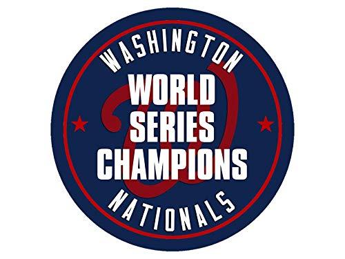 [해외]미국 비닐 라운드 워싱턴 내셔널즈 월드 시리즈 챔피언 스티커 (챔피언 dc 야구) / American Vinyl Round Washington Nationals World Series Champions Sticker (Champs dc Baseball)