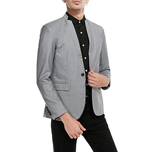 Szolno Slim fit embroidery Suit Jacket of Men Separate Dinner Appointment - Embroidery Party Prom Jacket