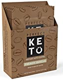 Perfect Keto Instant Coffee: Ketogenic Fat Coffee Sugar Free Cafe Latte w Coconut Oil MCT Creamer for Ketosis on Ketone Friendly Diet. Low Carb, No Ghee Butter. Ketosis for Brain (Vanilla)