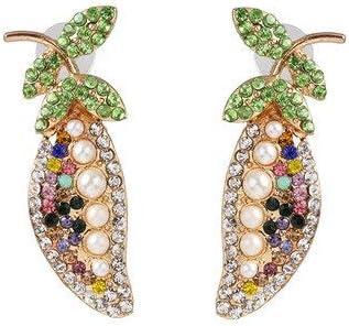 LSZFCHEH Pendientes Colgantes Multicolores Pendientes Elegantes de Diamantes de imitación de Cristal para Mujeres Pendientes de Moda para Mujer Joyas