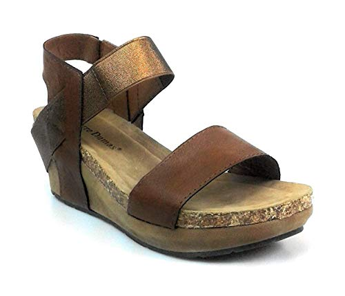 Pierre Dumas Chantal-2 Whiskey Womens Platform Wedge Size 6.5M