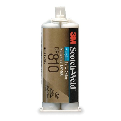 3M Scotch-Weld DP810 Low Odor Acrylic Adhesive, 50mL, Black