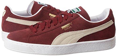burgundy Suede Rojo Classic 75 Zapatillas Adulto Puma white Unisex YdqYw