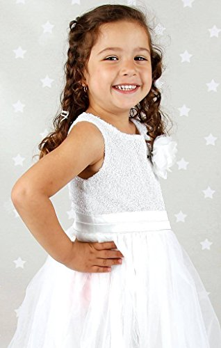 Bow-Dream-Flower-Girls-Dress-Sequins-Tulle