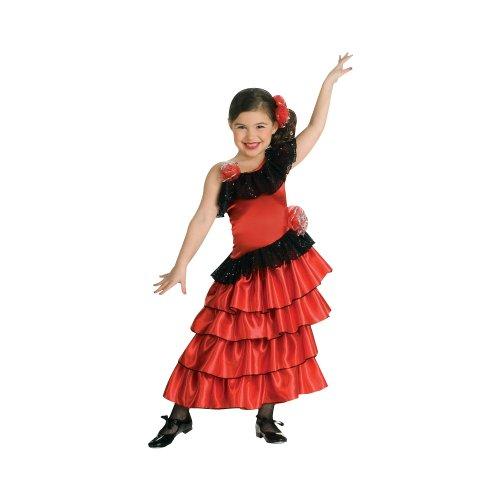 Rubies Girls Spanish Lolita Kids Costume As Shown - Medium (Mexican Fancy Dress Costume)