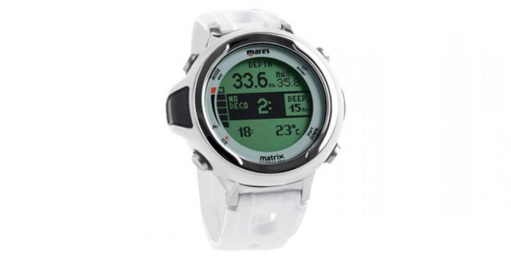 Mares Matrix Wrist Dive Computer - White