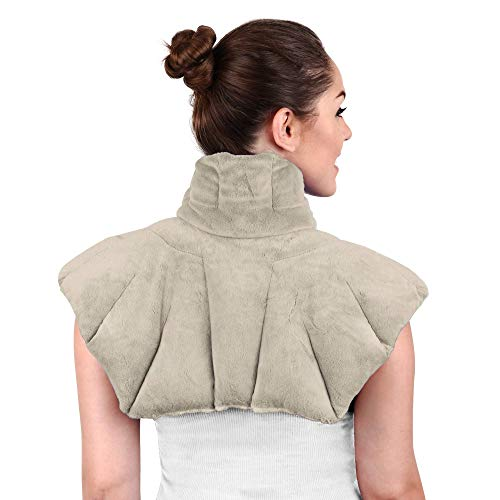 - Large Microwavable Heating Pad for Neck and Shoulders, Neck Relief, Stress Relief, Anxiety Relief, Neck Wrap Alternative to Rice Bags for Heat Therapy